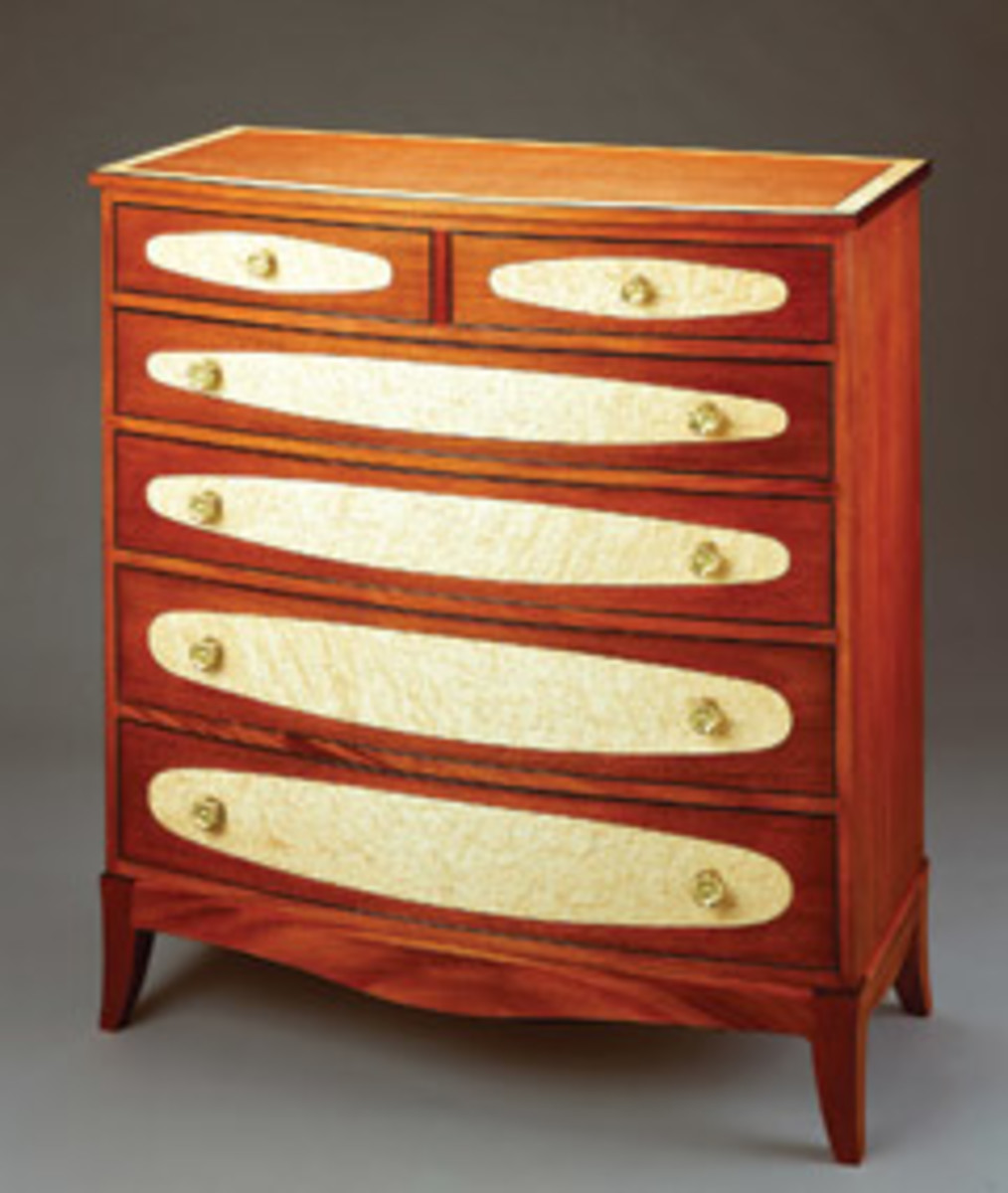 This bow front chest by Terry Moore will be on exhibit through Oct. 10 at The Fells Historic Estate and Gardens.