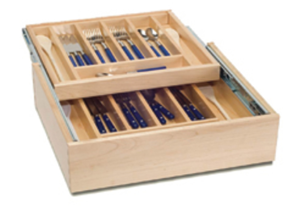 Cutlery drawer inserts from Drawer Box Specialities.