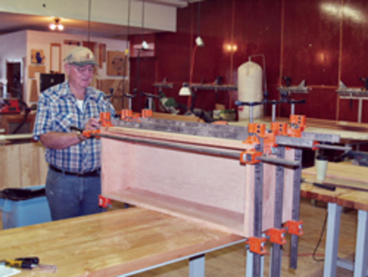 Having clamps at hand and knowing the open time of an adhesive is critical when assembling large components.