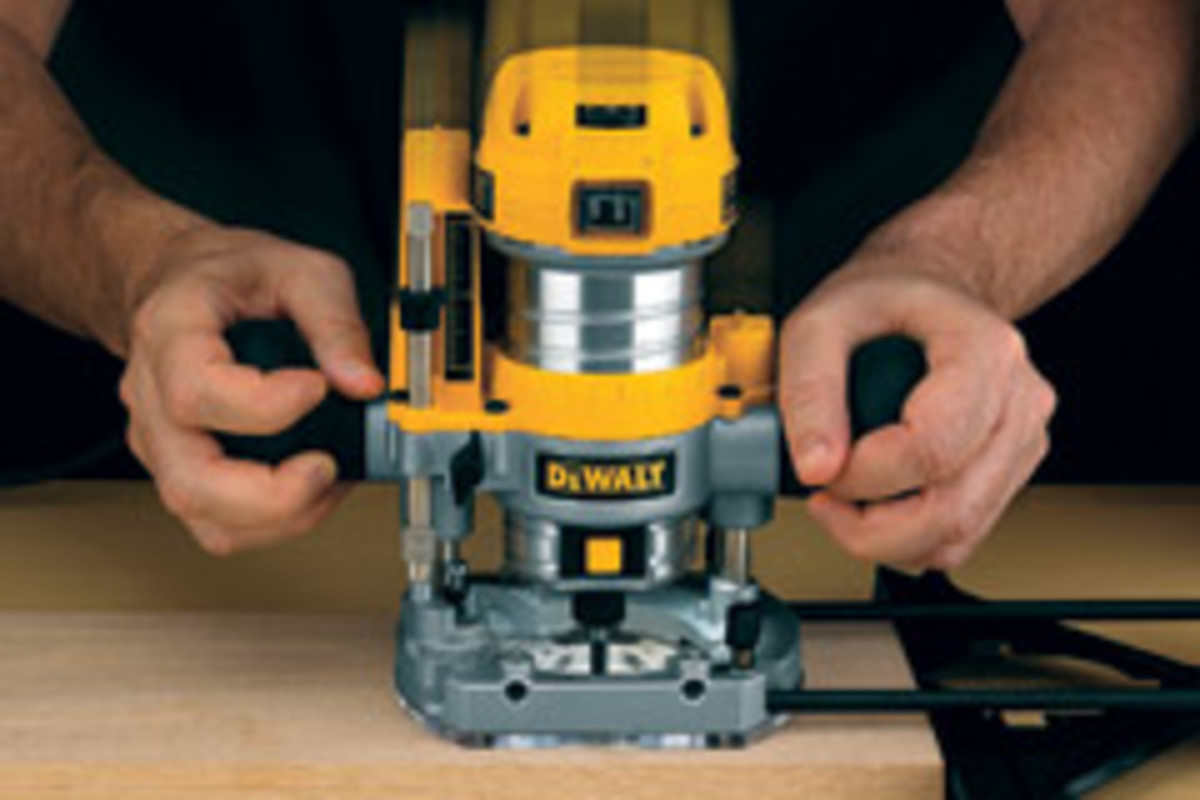 DeWalt's compact router is offered as a fixed-base unit and a fixed/plunge-base combo kit.