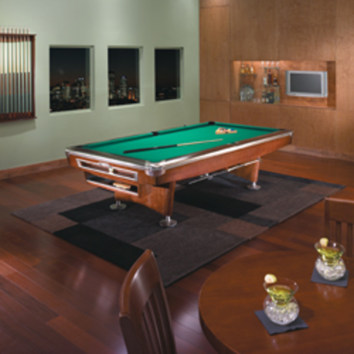 The Gold Crown V looks pretty good in a finished game room.