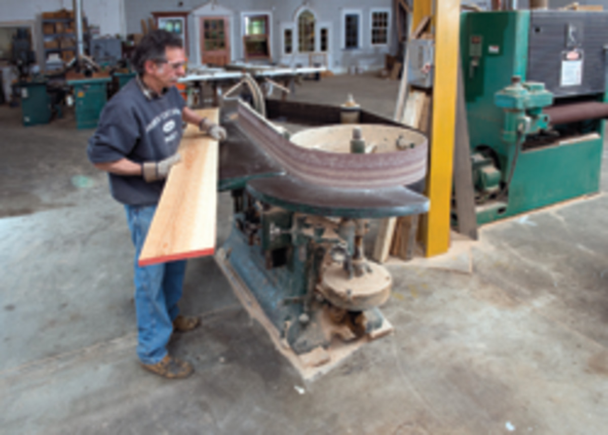 Employee Steve Bananno works in the shop.