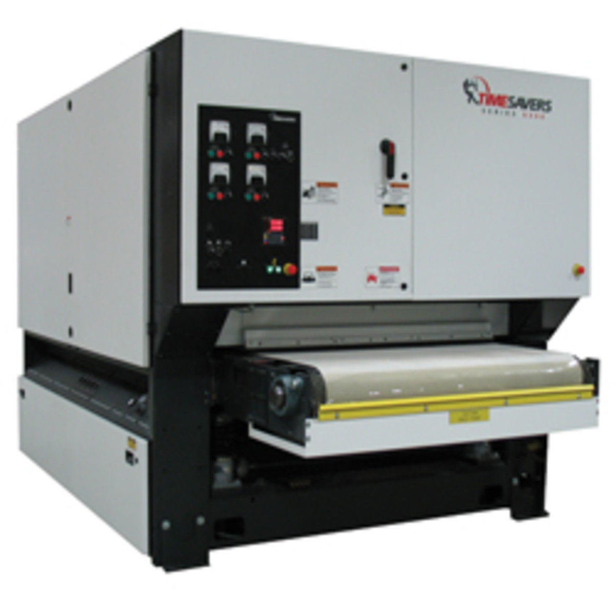 Wide belt sander for metal finishing