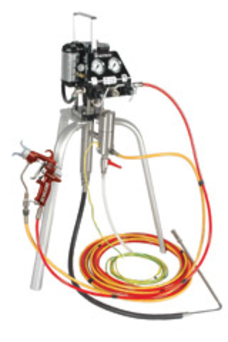 The Binks MX 412 System provides for spraying at lower air pressure, according to the company.