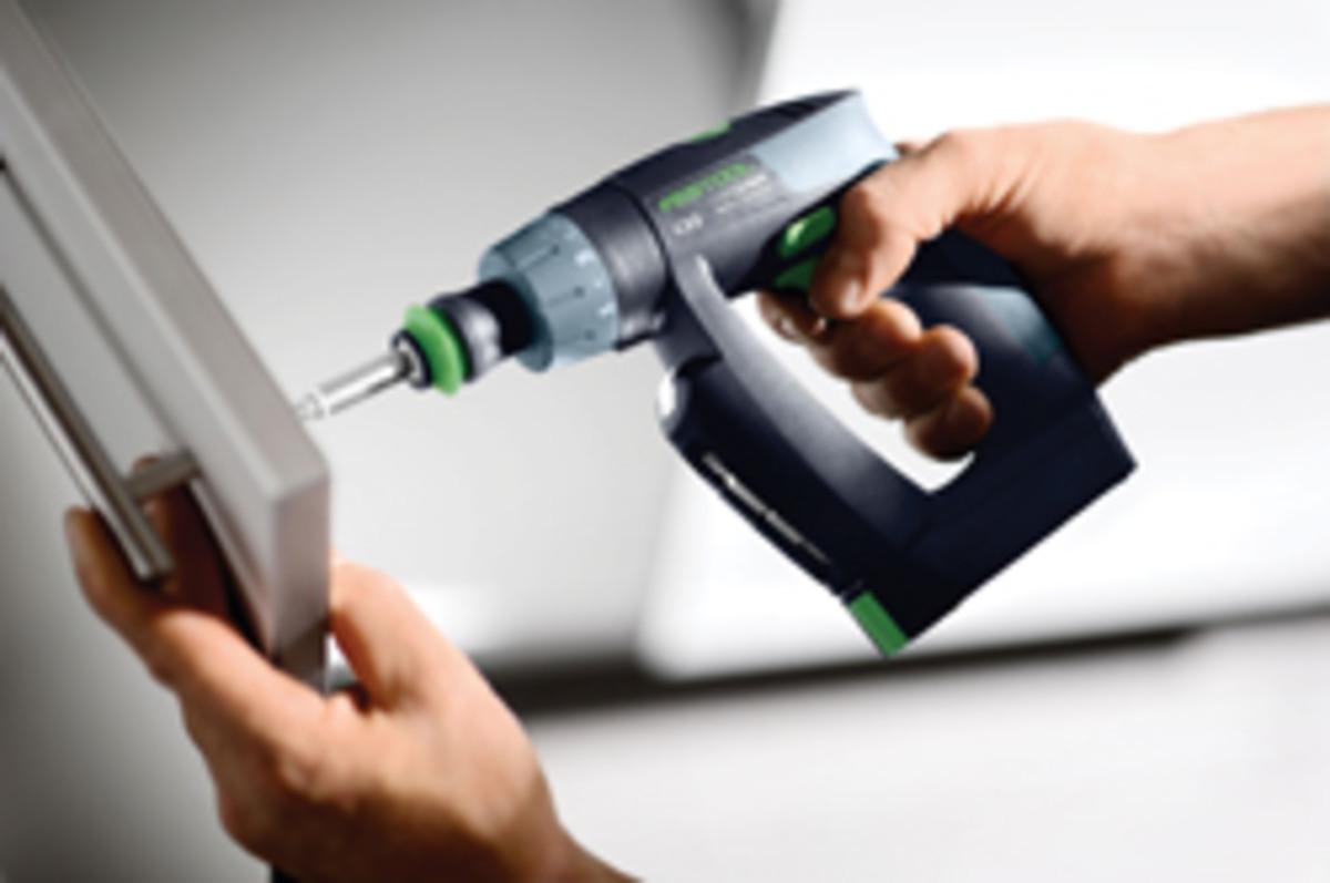 Festool's CXS 10.8-volt cordless drill.