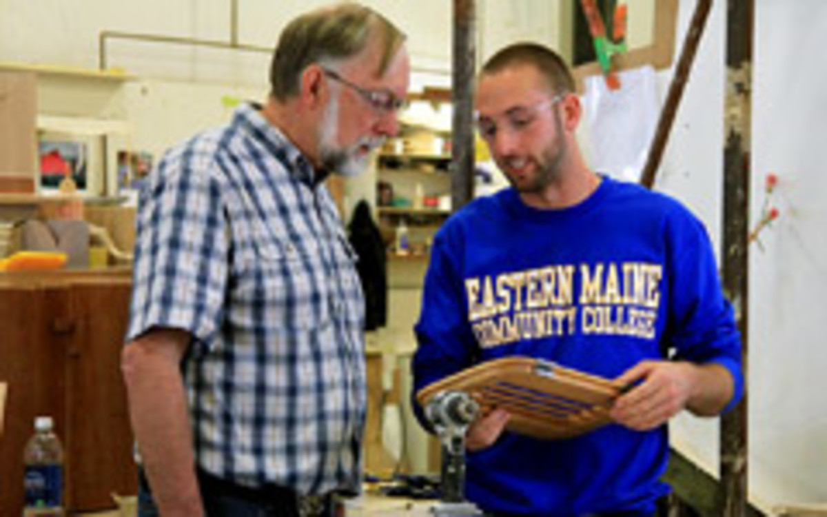 School officials at Eastern Maine Community College say the federally funded woodworking program will be an asset to students looking for work after graduation.