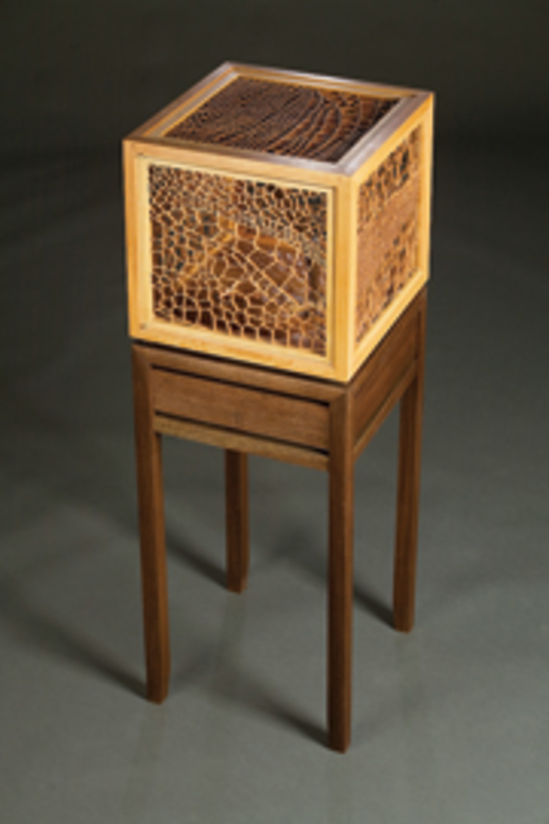 An accent table by Jonathan Reif.