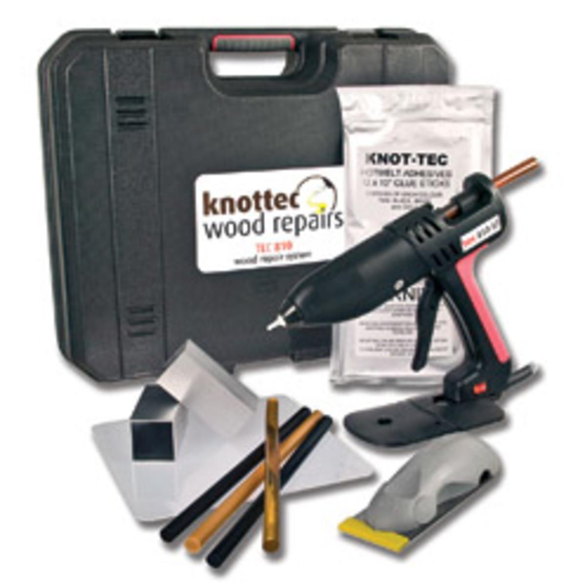The Knot-Tec wood repair kit.