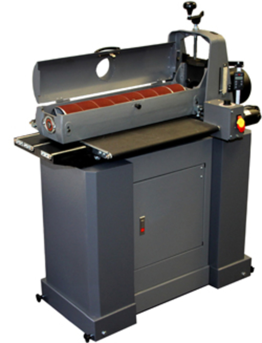 The 25-50 open-end drum sander from SuperMax Tools.