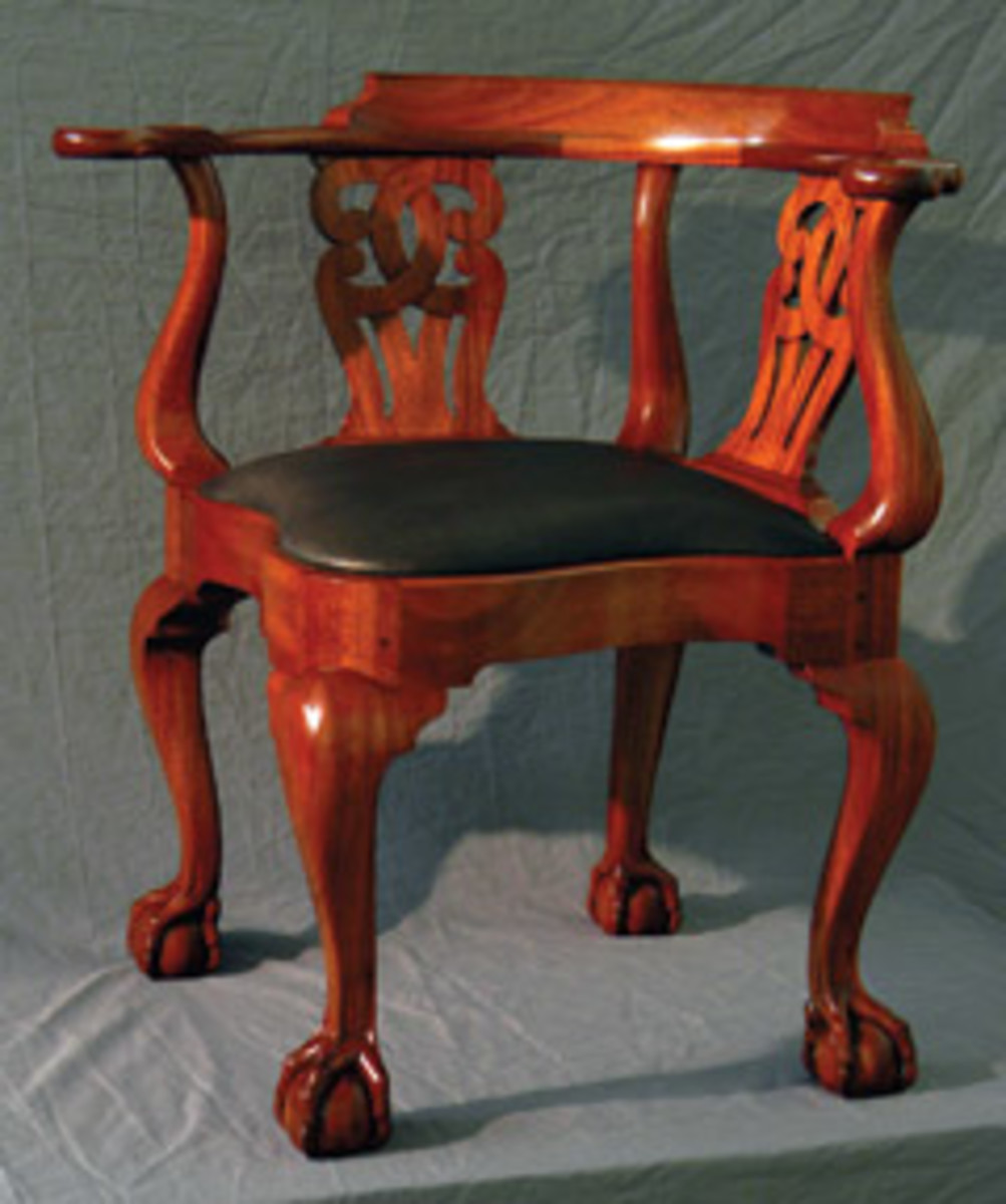 A corner chair by Jeff Roberts.