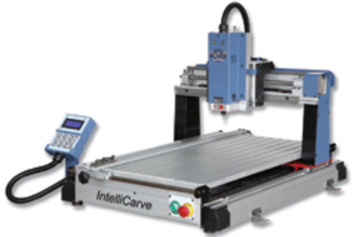 Oliver Machinery unveiled its 1015 Intellicarve model, which is capable of working with wood, plastic, ceramic, acrylic, Corian, Avonite, Plexiglas and other materials.