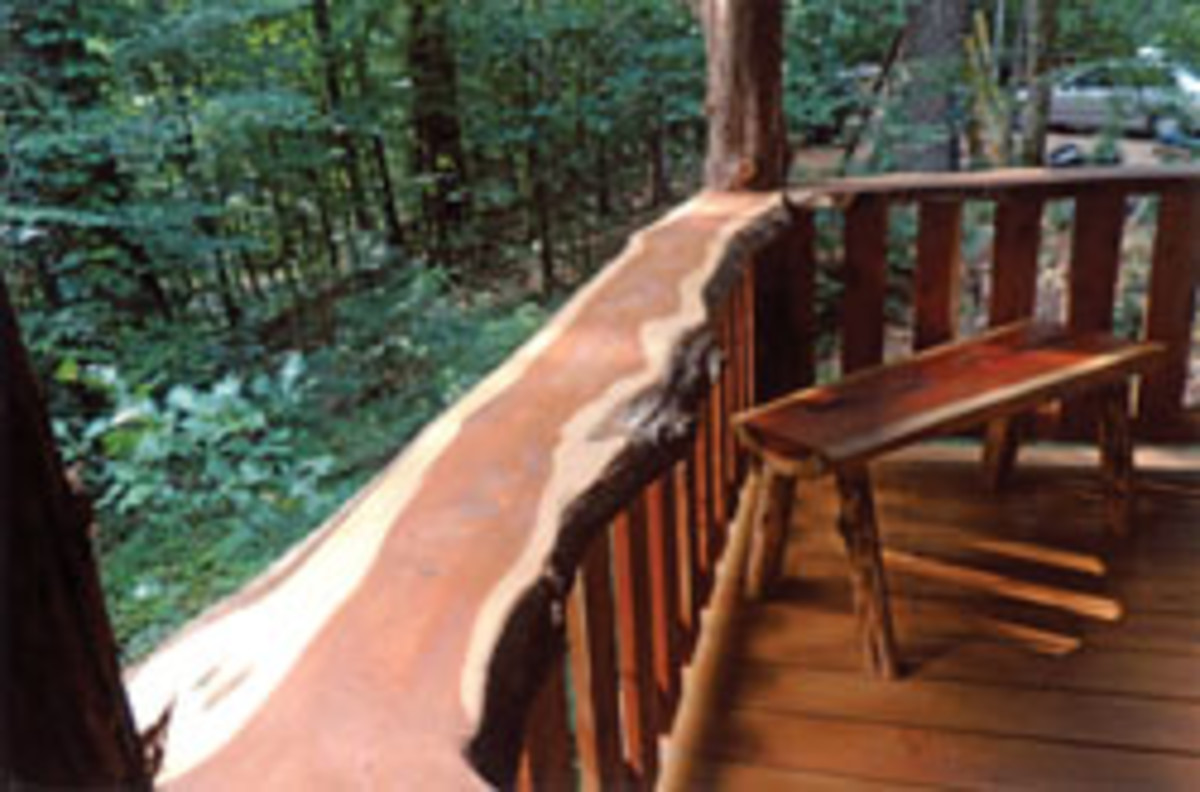 A wraparound porch, built by Craig Forman of Meadville, Miss., placed second.