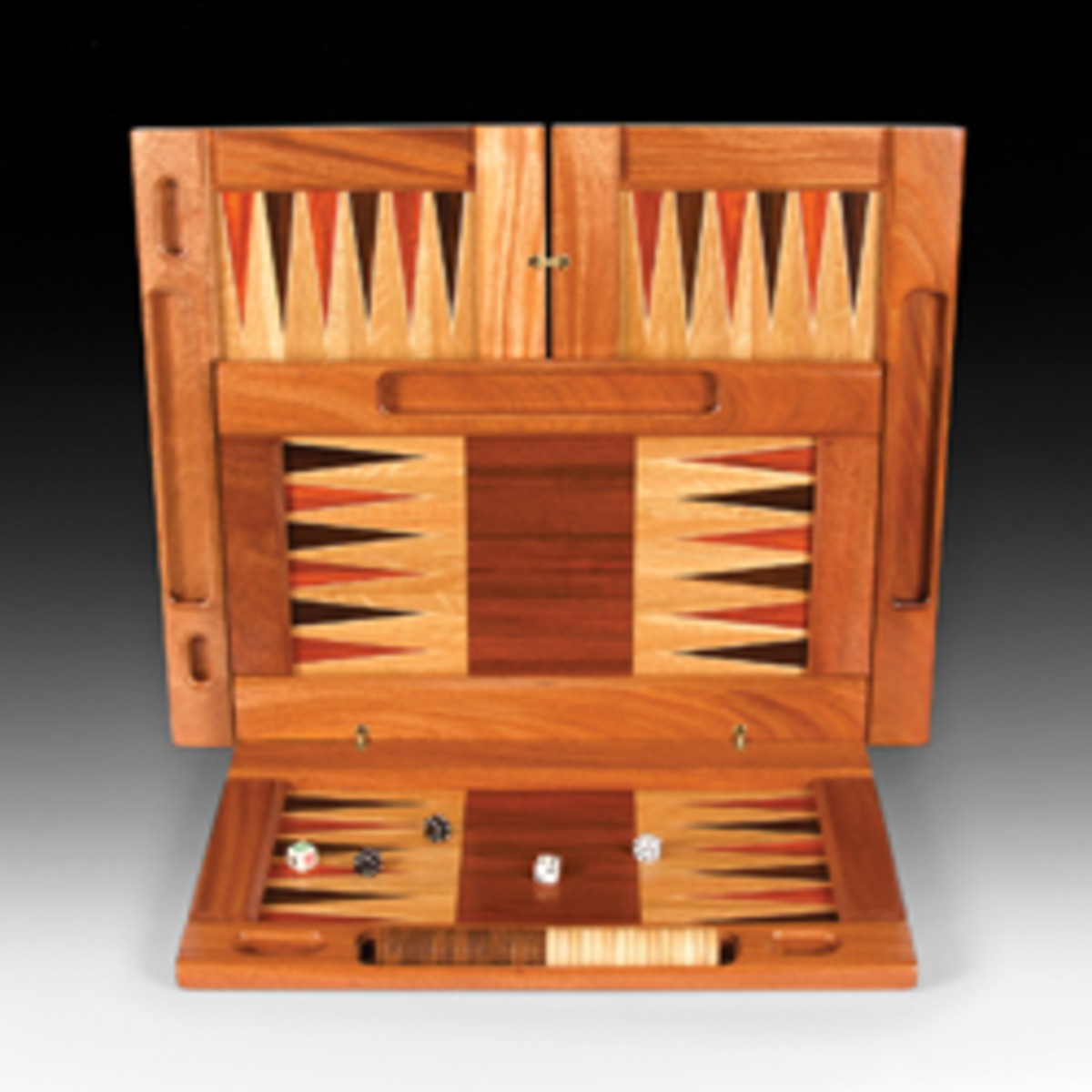 CraftBoston presents handcrafted work for sale, such as this backgammon set by exhibitor John Deveer of Davis, Calif.