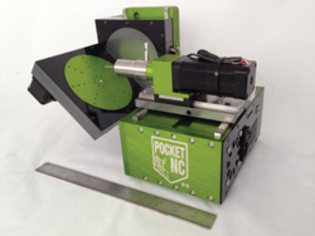 A five-axis CNC milling machine from Pocket CNC.