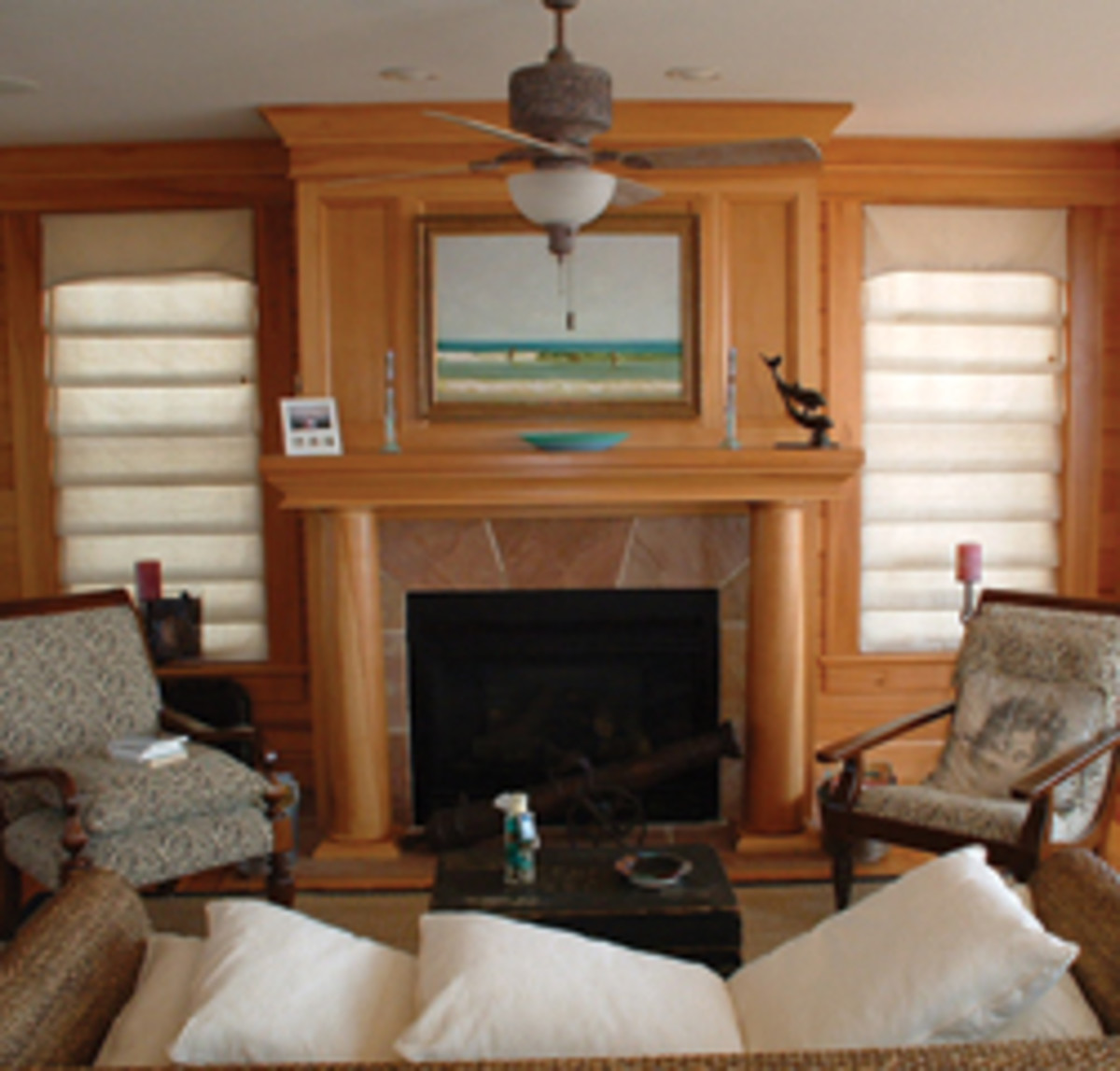 Kitchens, fireplace mantels and built-ins represent the majority of work for Oceanic Ventures.