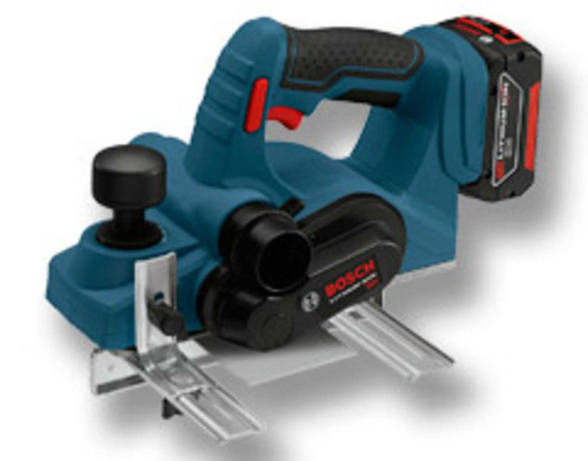 "The Bosch 18-volt lithium-ion 3-1/4"" planer."
