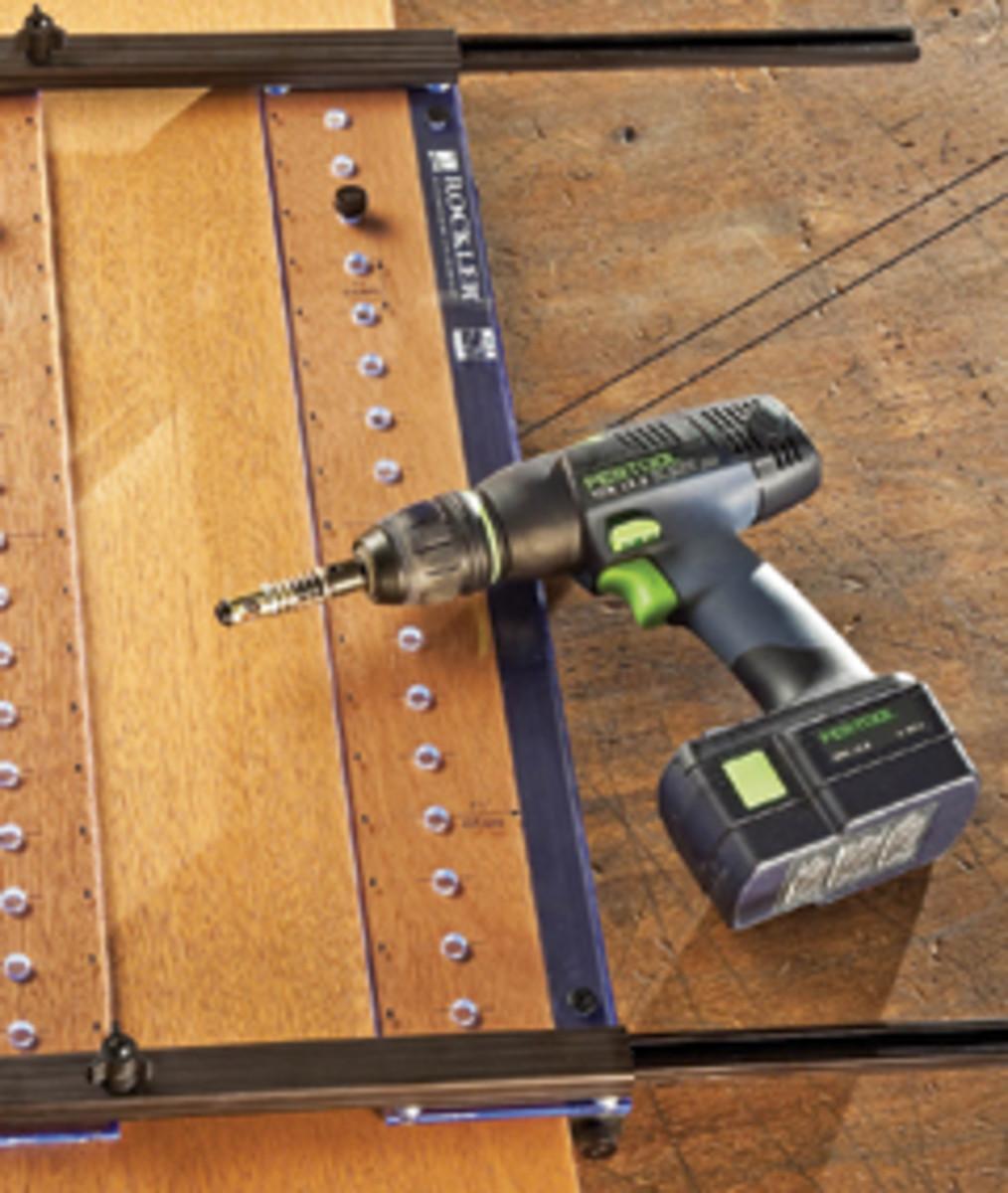 Rockler's Pro Shelf Drilling Jig.