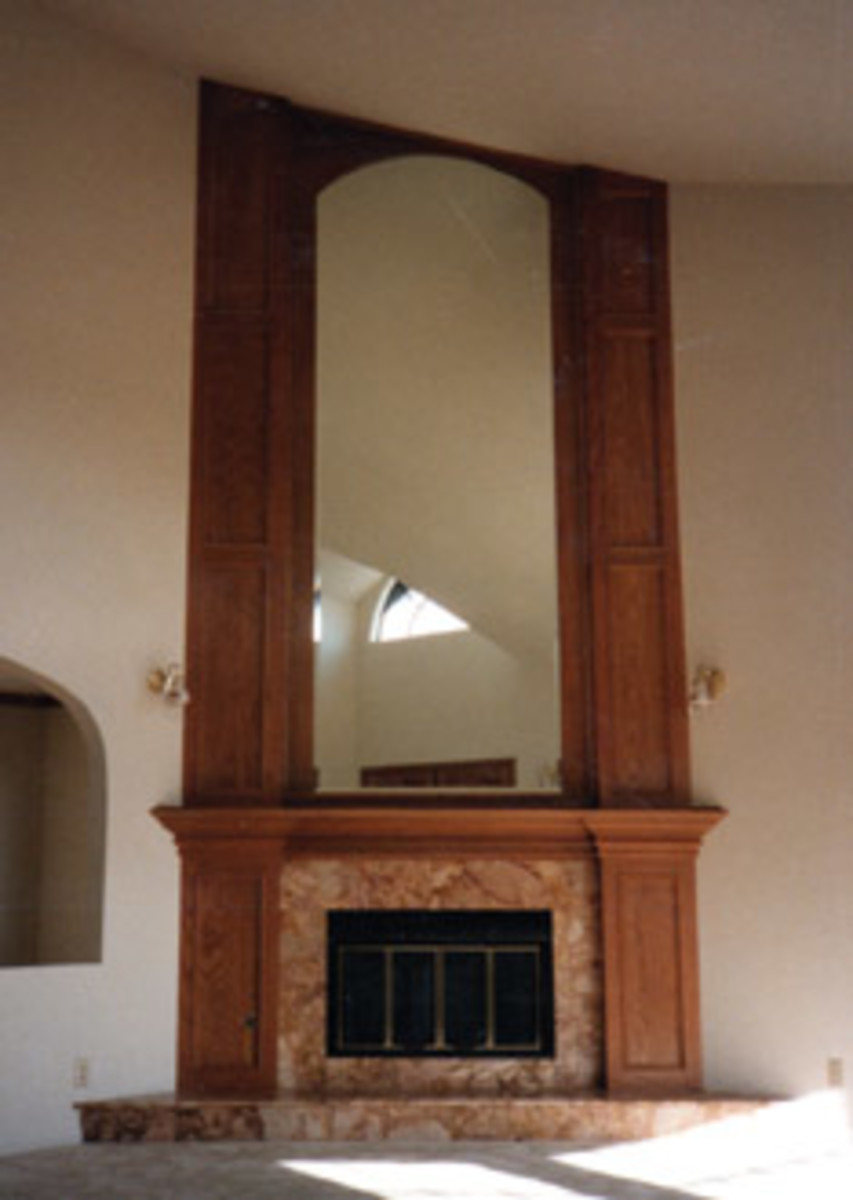 Elsmore stays busy building fireplace surrounds, built-ins and just about anything a customer wants.