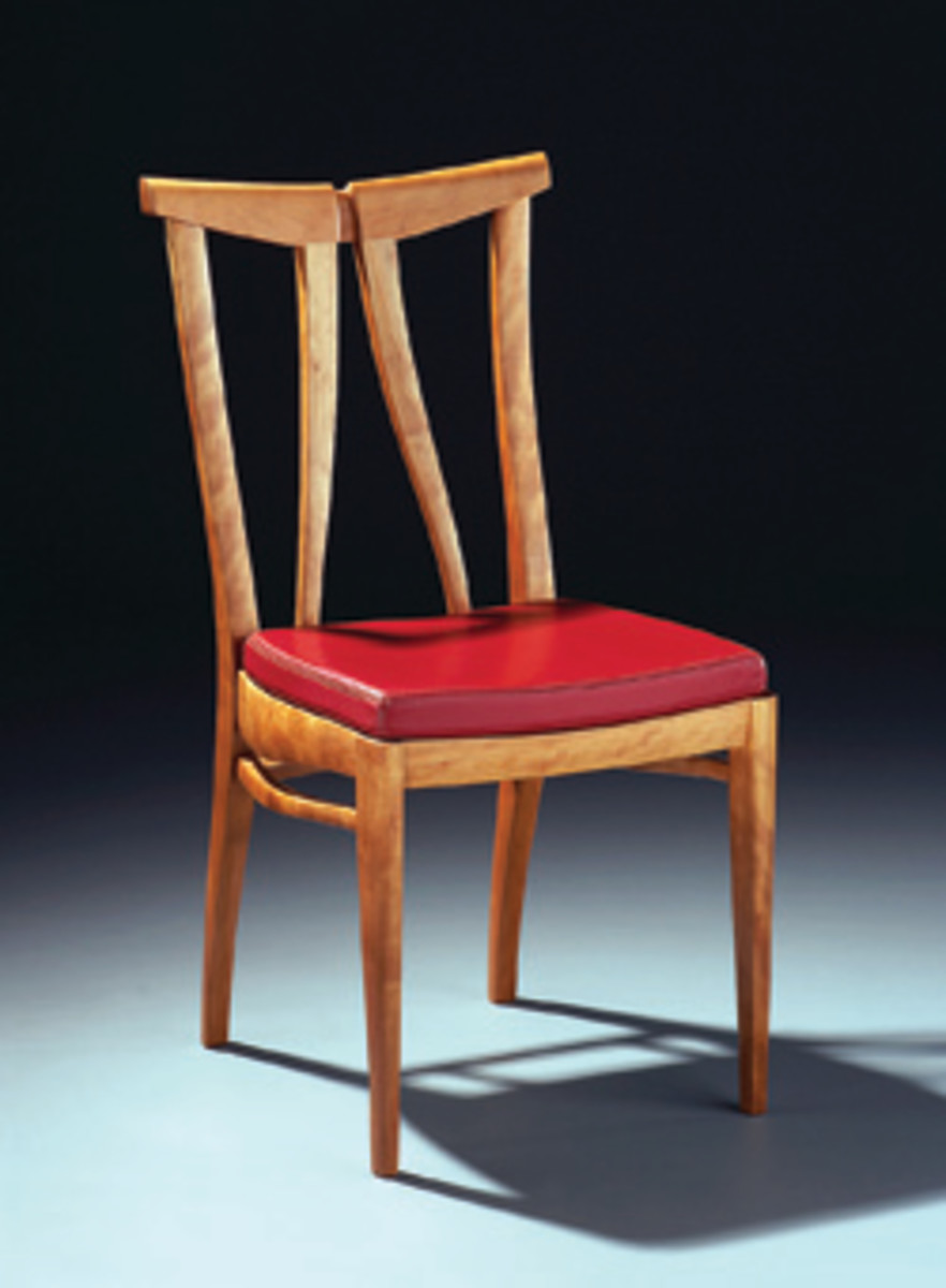 "The ""Just Chairs"" exhibit includes work by David Masury."