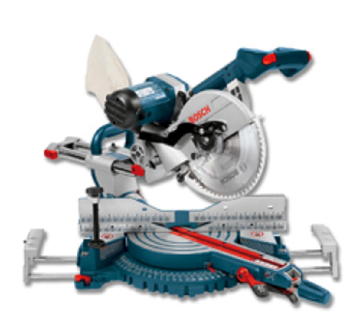 "The Bosch 10"" dual-bevel sliding miter saw, model 4310."