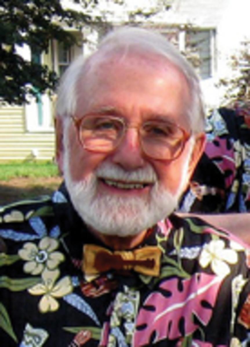 Bow tie maker Marv Beloff.