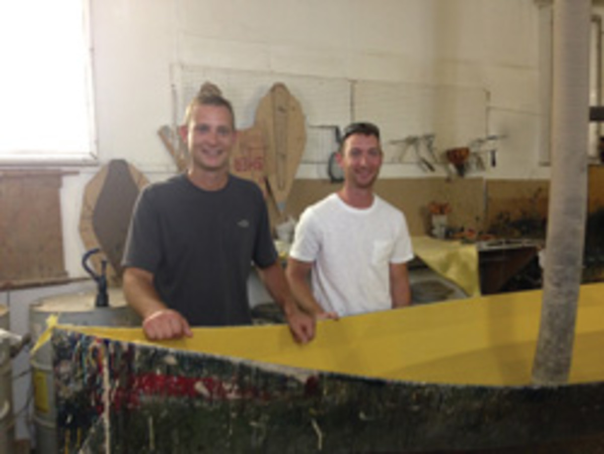 Justin and Ian Martin, owners of Adirondack Guideboat.