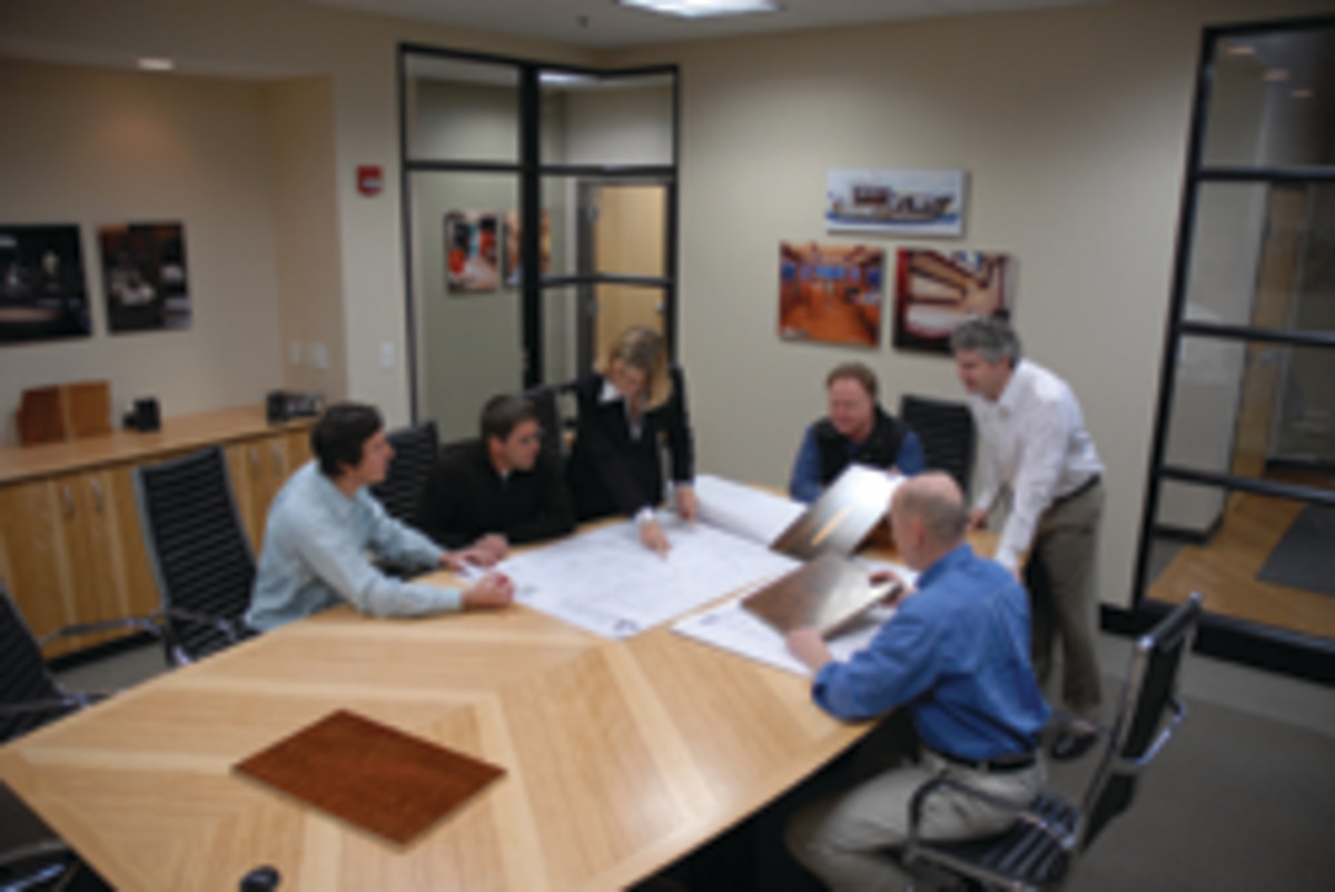 It's a team approach at Mark Richey Woodworking, which prides itself on solving problems and creating projects on a grand scale.