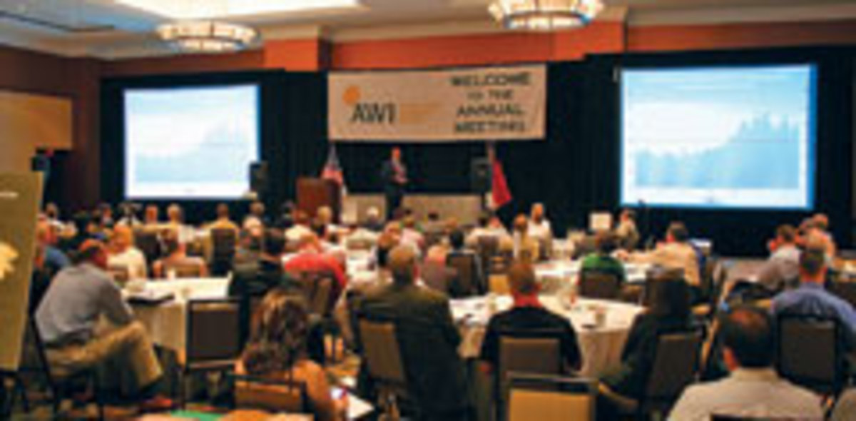 Members attending business seminars at the AWI's annual conference.