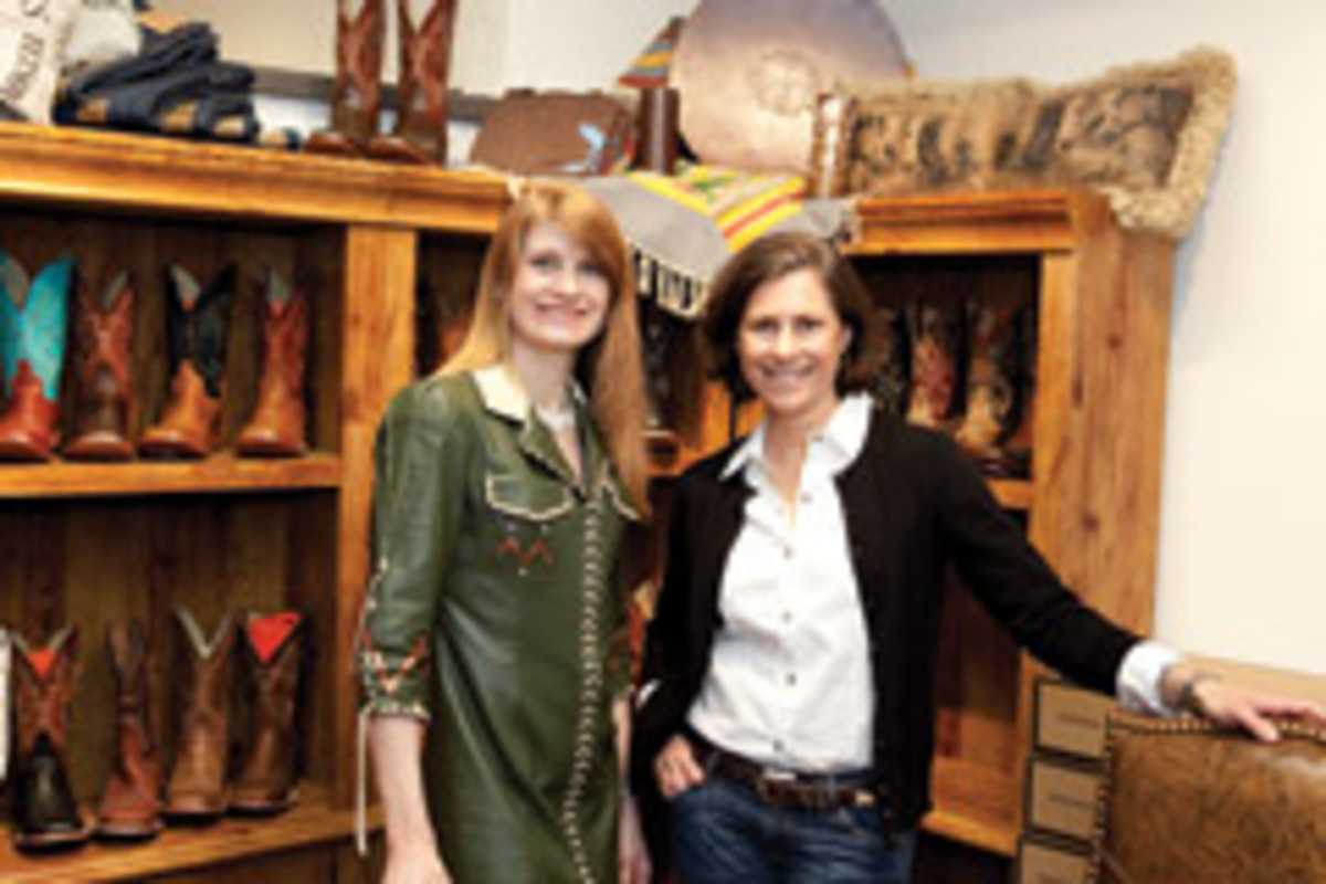 Thea Marx (left) and Pamela Fields, CEO of Stetson Worldwide, are working together to promote Western craft artisans at an international level.