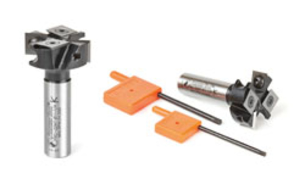Also new from Amana is the RC-2247 planing and rabbeting bit, an insert tool that is ideally suited to get into tight corners.