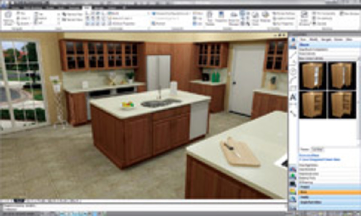 """With Microvellum's CabinetMaker Version 7 design program, customers can """"walk through"""" their new kitchen."""
