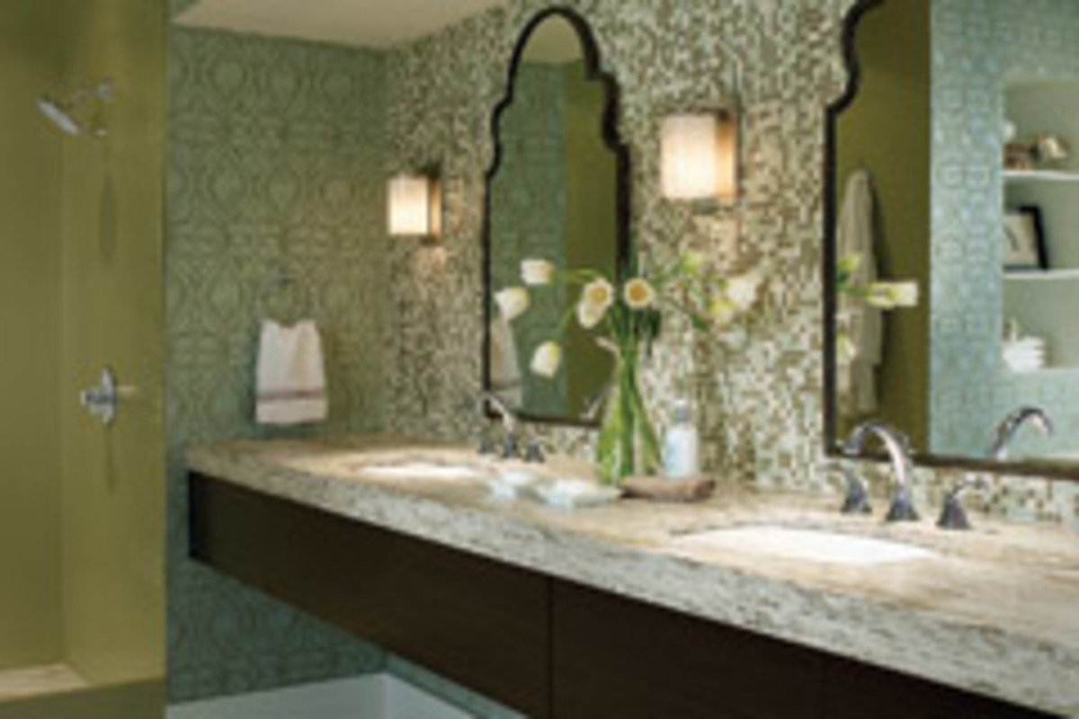 The color green has recently become a popular choice for bath hues. A year ago, green color palettes were used by only 14 percent of NKBA designers, but at the end of 2010, that figure had risen to 24 percent.