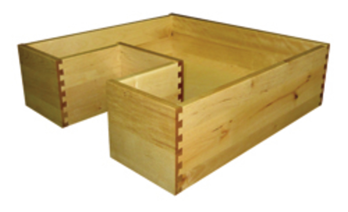 Timbercraft U-shape drawers.