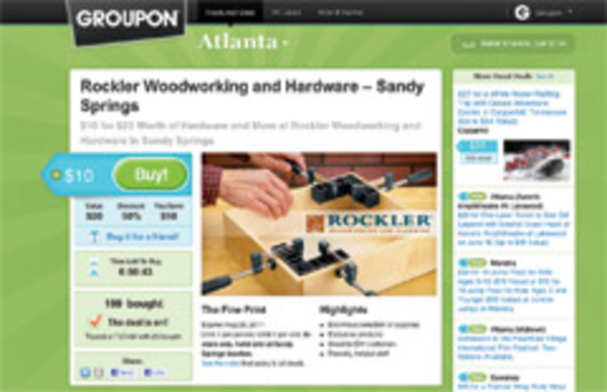 Groupon Opens Doors For Woodworking Stores Woodshop News