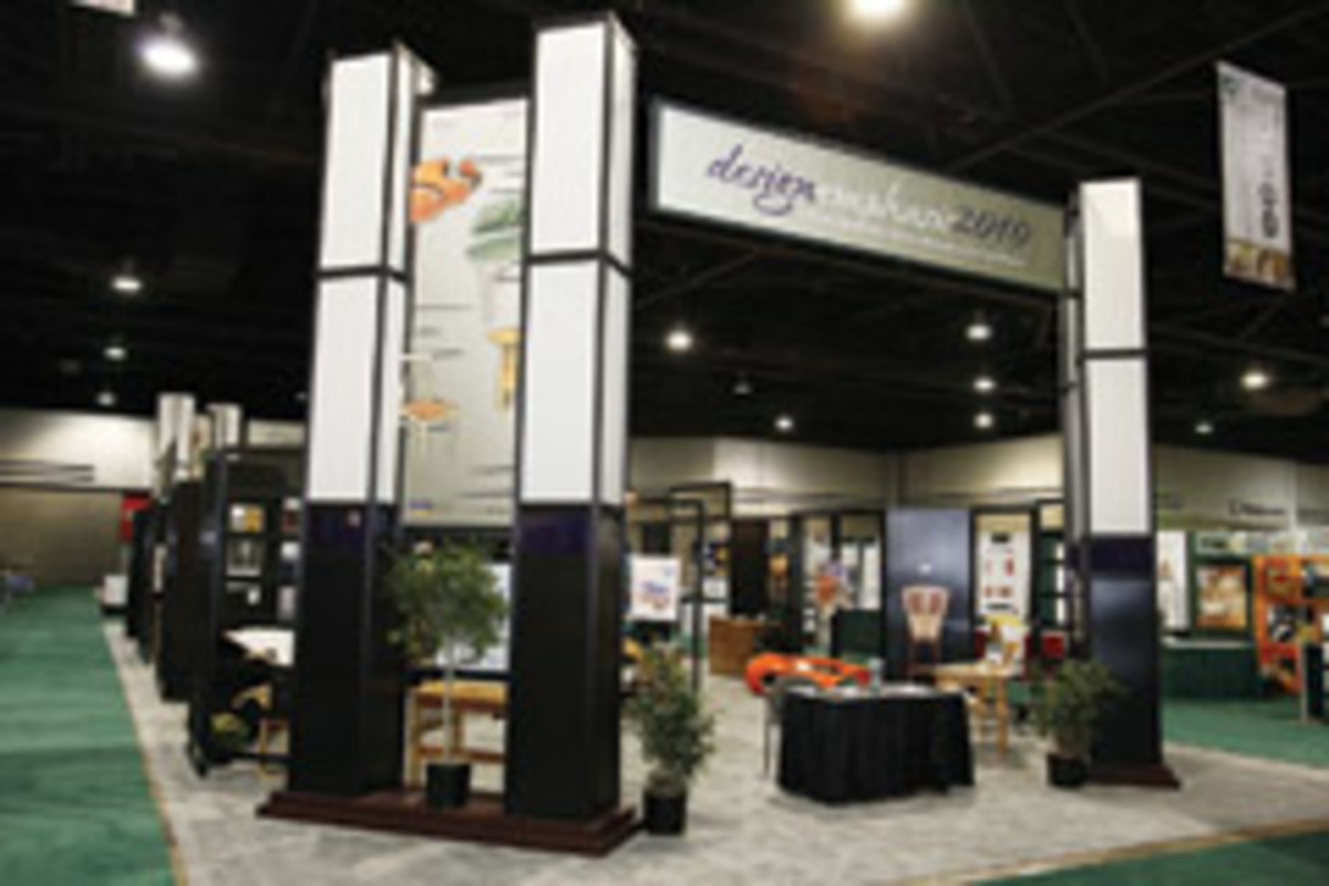 The Design Emphasis finalists had their pieces displayed at IWF 2010.