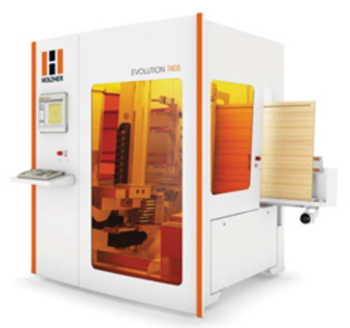 CNC centers, such as the Evolution 7405 from Holz-Her, feature a vacuum clamping system to hold challenging workpieces and mill difficult shapes.