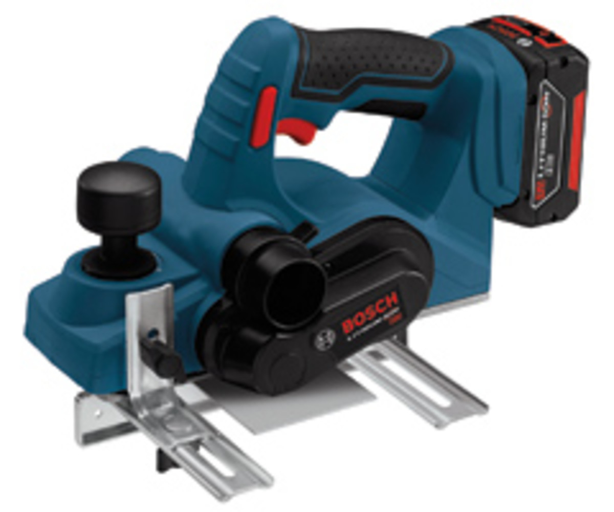 The Bosch cordless planer, model PLH181K.