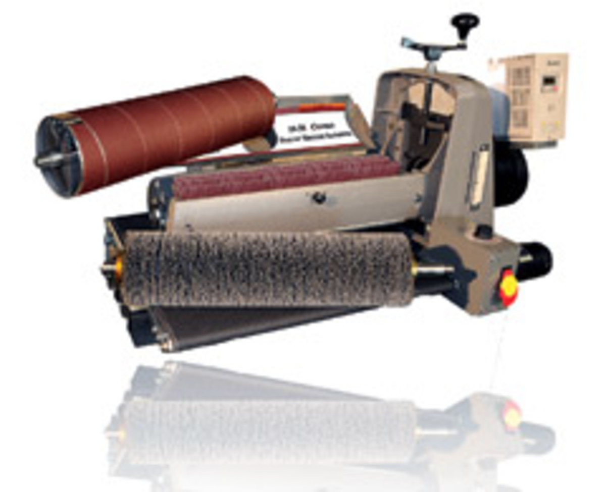 "The SuperMax 19-38"" drum/brush sander."