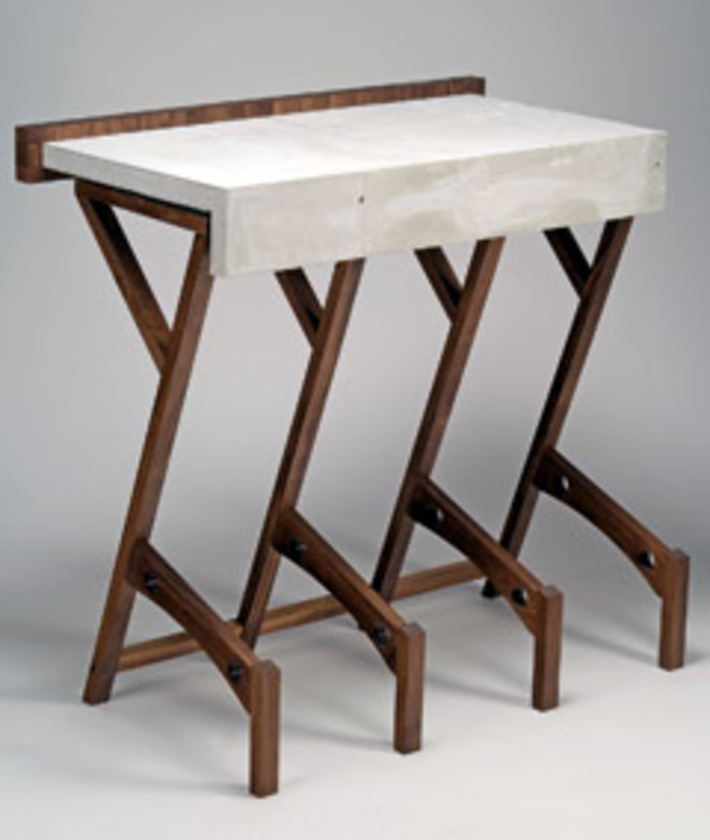 Price's table, made as a student at Maine College of Art.