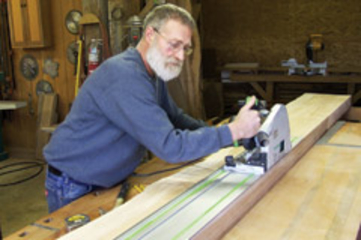 Holz says a recently acquired Festool TS75 EQ circular saw and edge guide has been an invaluable addition to his shop inventory.