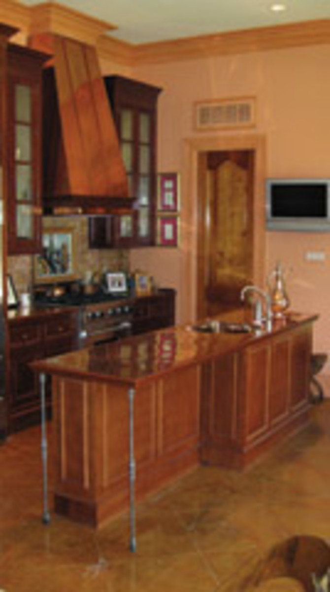 Two kitchen islands from the shop's extensive portfolio.