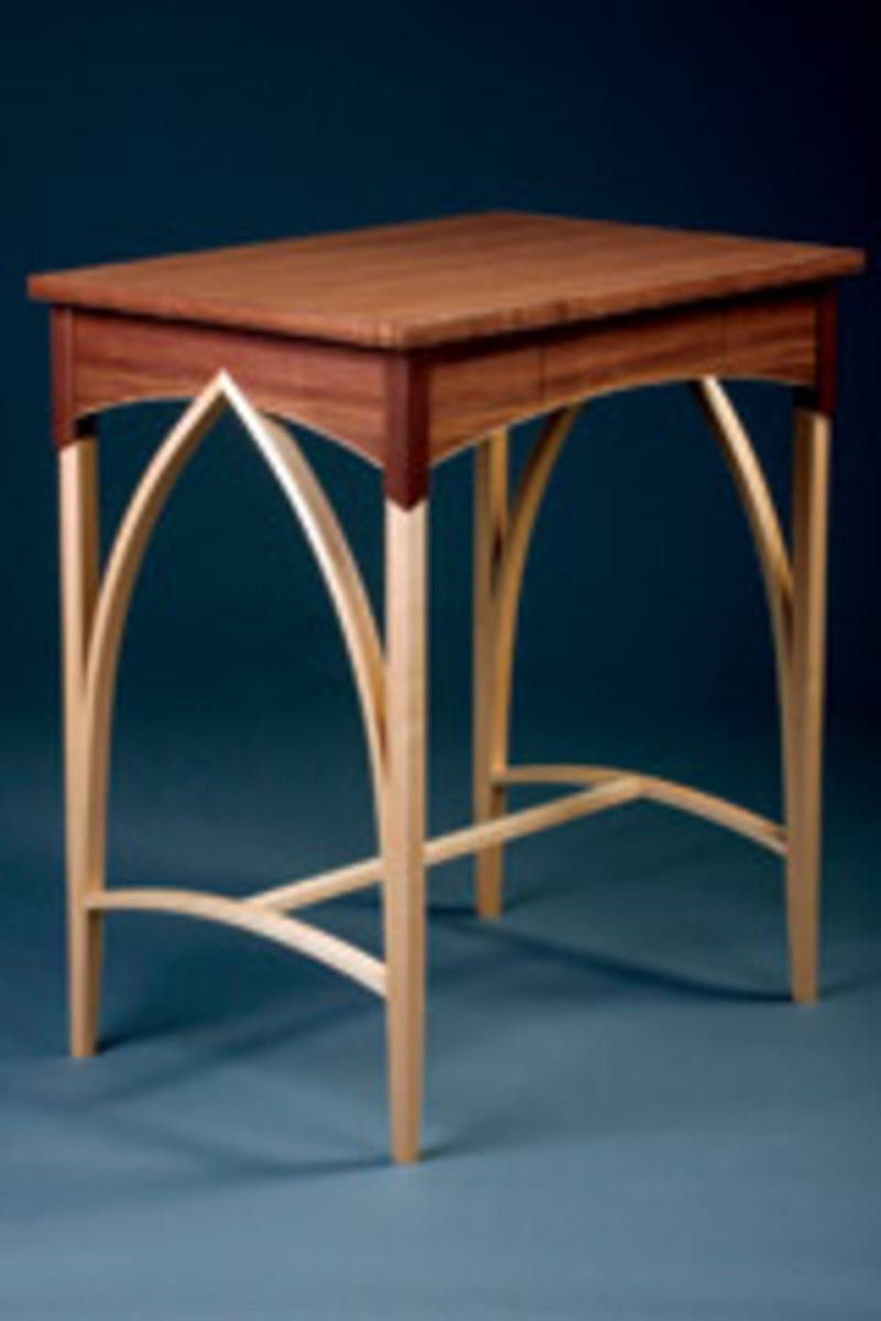 "This desk by Monica Raymond was in the Messler Gallery's ""Current Student Work"" exhibit."