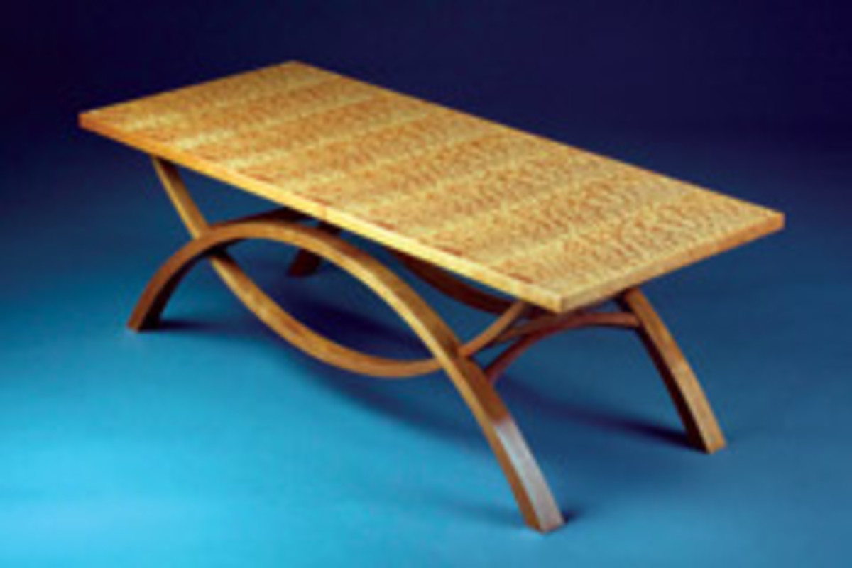 "This table by Ted Newman was in the Messler Gallery's ""Current Student Work"" exhibit."