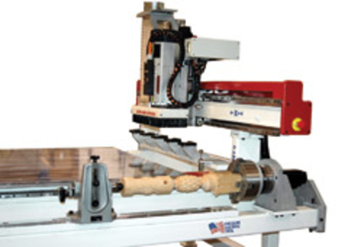 The Patriot with lathe attachment, from Freedom Machine Tool.