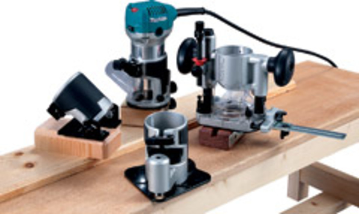 Makita's 1-1/4-hp compact router kit version.