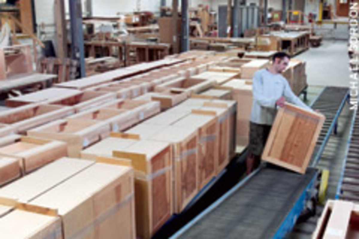 A shop that builds cabinet boxes over and over is the ideal candidate for adopting lean manufacturing principles.