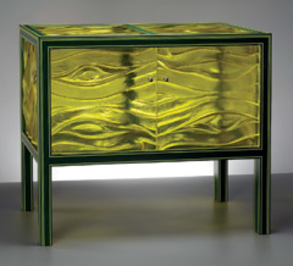 """Bart Niswonger's """"Green Cabinet"""" features ash, cast urethane and paint."""