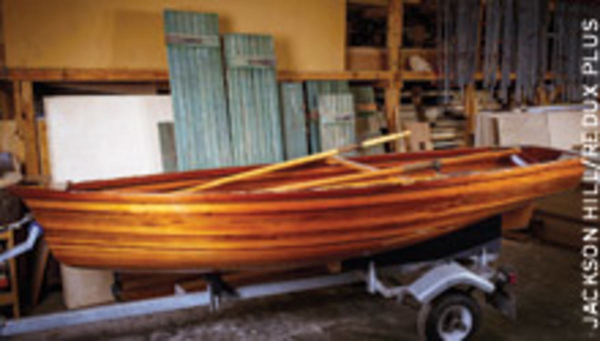 What else would a woodworker do in his space time? Build a boat, of course.