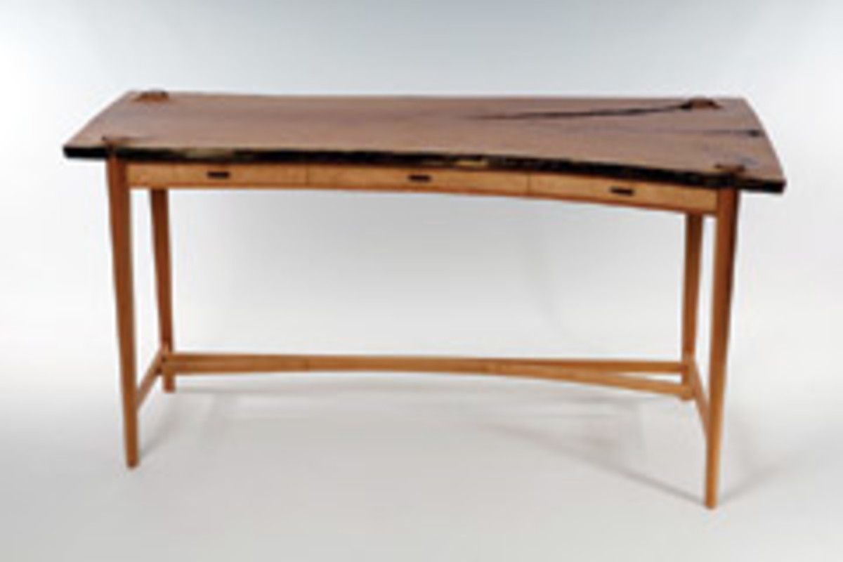 A desk by Andy Ward of Ophir, Colo., winner of a best artist award at the 19th annual Western Design Conference.
