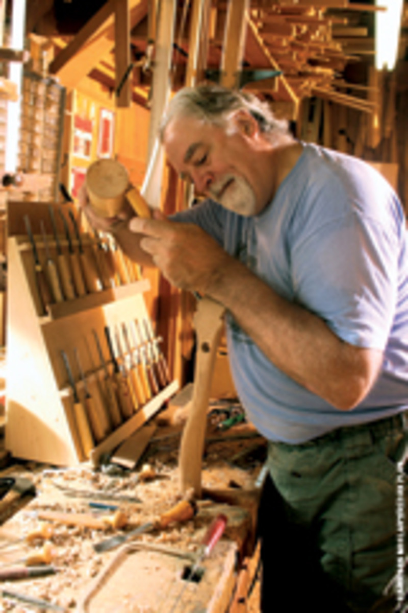 Sharp works in his shop in Woodbury, Tenn.